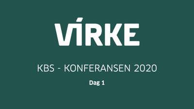 Virke-KBS-Konferansen 2020 - Dag 1 @ Meetando.no