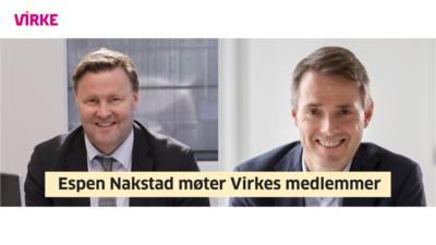 Virke-Velkommen til digitalt møte med ass. helsedirektør Espen Nakstad 23.oktober Kl.13:00 @ Meetando.no